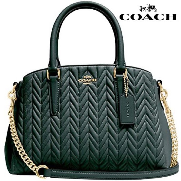SOLD - NWT COACH Mini Sage Carryall with Quilting